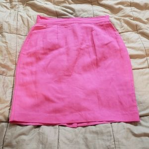 Casual Corner Petite Bright Pink Pencil Skirt